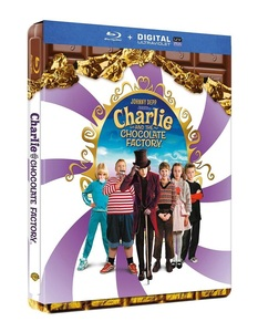 BLU-RAY / CHARLIE AND THE CHOCOLATE FACTORY STEELBOOK LE
