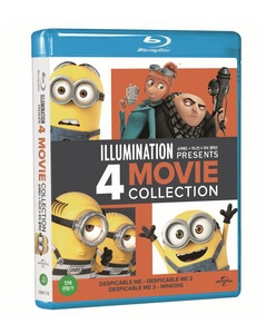 BLU-RAY / DESPICABLE ME 1, 2, 3 & MINIONS 4 MOVIE COLLECTION LE